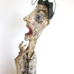 """Hombre con ira"", material reciclado, alto 29 cm, (2012)"