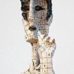 """""""Pitágoras"""", material reciclado, alto 36 cm, (2012)"""