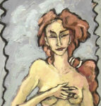 """Venus nacida de las aguas"", óleo sobre tabla, 89x21 cm, (2002)"