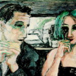 """""""Los últimos en llegar"""", óleo sobre lienzo, 27x46 cm, (2009)"""