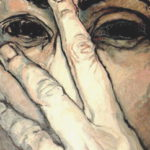 """Rostro espía II"", óleo sobre lienzo, 100x50 cm, (2009)"