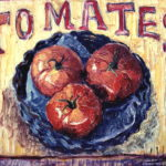 """Tomates"", óleo sobre tabla, 31x25 cm, (1999)"