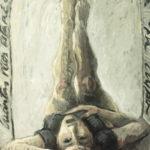 """Mujer cabeza abajo"", óleo sobre lienzo, 100x81 cm, (2009)"