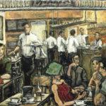 """Desayunos"", óleo sobre lienzo, 25x34 cm, (2011)"