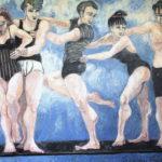 """En la cuerda floja"", óleo sobre lienzo, 114x146 cm, (2011)"