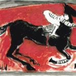 """""""Amazona en apuros I"""", óleo sobre papel, 30x40 cm, (2010)"""