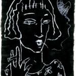 """""""Fumadora enamorada"""", pastel sobre óleo, 40x30 cm, (2012)"""